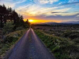 Road sunset sunrise