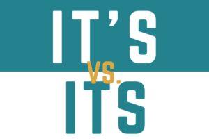 ACET It's vs its